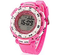 Women's Sport Style Round Dial Rubber Band Digital Wrist Watch (Assorted Colors)