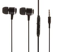 IP650 musique Salut-Fi stéréo avec micro In-Ear Noir