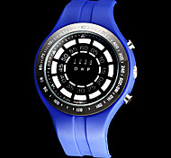 Men's Whirlwind Style Blue LED Digital Rubber Band Wrist Watch (Assorted Colors) Cool Watch Unique Watch