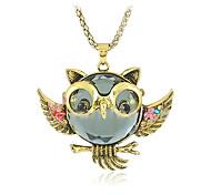 z&x® vendimia (búho) collar de la aleación de oro colgante (de oro) (1 unidad)