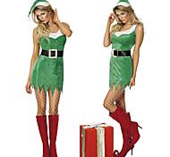 Cool Girl Grass Green Velvet Natale Costume