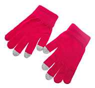 Solid Color Purple Screen Touching Gloves for iPhone, iPad and All Touch Screen Devices