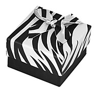 Vintage Black And White Paper Jewelry Box For Ring (Black And White)(1 Pc)