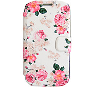 Pink Rose Leather Case with Stand for Samsung Galaxy S3 I9300(Slightly Different Clipping Design)