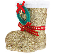 "4.5"" Gold Gift Boot for Christmas"