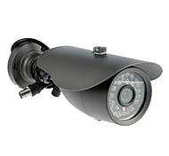 CCTV Security Surveillance 600TV Line Weatherproof Bullet Camera with 1/3 Inch CMOS