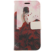 Maxiskit Girl Drawing Pattern Faux Leather Hard Plastic Cover Pouches for Samsung Galaxy S3 I9300