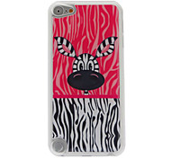 Lovely Big Eyes Zebra Pattern Epoxy Hard Case for iPod Touch 5