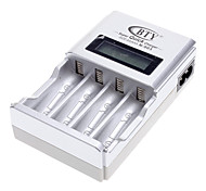 BTY-N903 Charger for 4pcs AA / AAA Ni-MH / Ni-Cd Rechargeable Batteries (Silver)