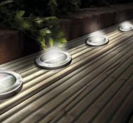 Stainless Steel Solar LED Light Deck Ground Lights Patio Light