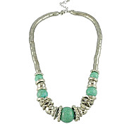 (1 Pc) Vintage Green Acylic Chain Necklace (Green)