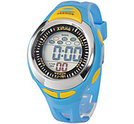 Kinder Sportuhr Digitaluhr LCD Quartz digital Band Schwarz Blau