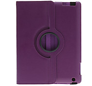 360 Degree Rotating Stand Solid Color Protective Case for iPad 2/3/4