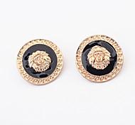 Lion Head Stud Earrings