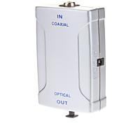 Coaxial(RCA) Female to Optical Toslink Female Digital Audio Converter