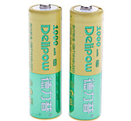 Delipow 1000mAh Rechargeable AA Battery (2pcs)