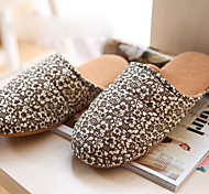 Casual Soft Coffee Flower Man's Slid Slippers