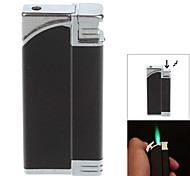 Fashion Windproof Butane Lighter / Tricky Joke Toy - Black + Silver