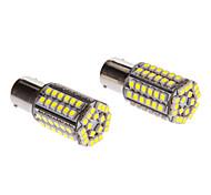 2pcs 1156 4W 80x3528SMD 150-200LM 6000K luz blanca LED del maíz del bulbo Cool (12V)