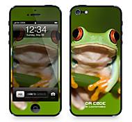 """Da-Code ™ Skin für iPhone 5/5S: """"Laubfrosch"""" (Tiere Serie)"""