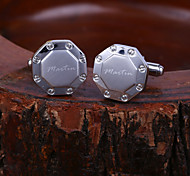 Personalized Gift Octahedral Pattern Engraved Cufflinks