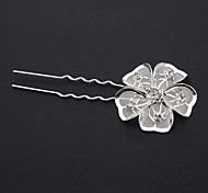 Fashion Silver-Plated Rhinstone Hair Stick For Women