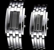 orologio blu della coppia led resistente all'acqua digitale