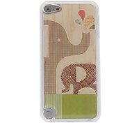 Cartoon Style Mother Elephant and Son Elephant Pattern Epoxy Hard Case for iPod Touch 5