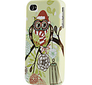 Joyland Weihnachten Eulen-Muster TPU Tasche für iPhone 4/4S