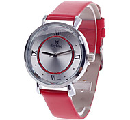 daybird 3803 Fashion Women's Quartz Wrist Watch -Red + Silver