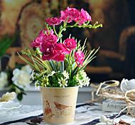 "13 ""borboleta arranjo orquídea rosa com metal rodada balde vaso"