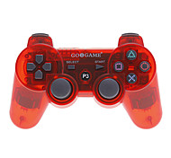 Bluetooth Wireless Controller Funda para Sony PS3 (rojo transparente)
