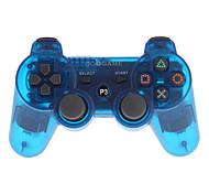jogo goigame controlador sem fio bluetooth para pc ps3 (azul transparente)
