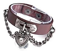 Cuir Ronde Quartz Montre-bracelet analogique Femmes