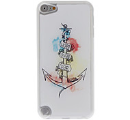 Simple Anchor Pattern Epoxy Hard Case for iPod Touch 5