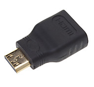 HDMI V1.3 macho a hembra adaptador Negro