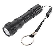 LED Flashlights / Handheld Flashlights LED 3 Mode 100 Lumens Waterproof Others 18650 Camping/Hiking/Caving - SmallSun , BlackAluminum