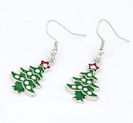 orecchini di goccia verde albero di Natale regalo di natale
