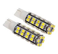 T10 2W 38x1210SMD 130-150LM 6000-6500K Cool White Light LED Bulb for Car (12V)