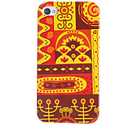 Red Tone Ethnic Style Pattern Hard Case für iPhone 4/4S