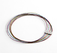 Classic Round Multicolor Stainless Steel Cord & Wire(5 Pcs/Lot)(Multicolor)