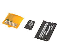 8g classe 6 microSDHC Card tf e microSD adaptadores para Memory Stick PRO Duo / xd