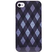 Joyland Diamond-Type Lattice Stripe Pattern ABS Back Case for iPhone 4/4S