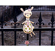 "13""H Cartoon Alpaca Polyresin Wall Clock"