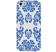 Chinese Antique Blue and White Style Pattern Matte PC Hard Case for iPhone 5/5S