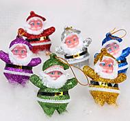 Decoración de la Navidad del ornamento de Santa Claus muñeca (6 PC fijadas)