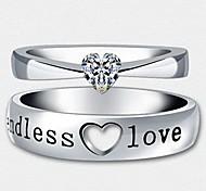 z&X® (2 pcs) mode unisexe strass transparente quelques anneaux