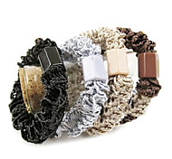 Classic Multicolor Lace Fabric Hair Ties For Women(Black,Kahki And More)