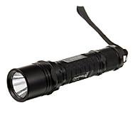 UniqueFire M2 Single-Mode Cree XP-G R5 LED Flashlight (320LM, 1 * 18650, Nero / Argento)