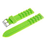 18mm Unisex Gummi-Silikon-Uhr-Band (verschiedene Farben)